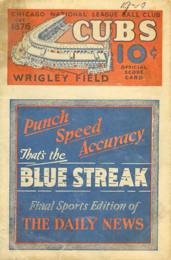 1929 Chicago Cubs Program Cover by Chad Dollick