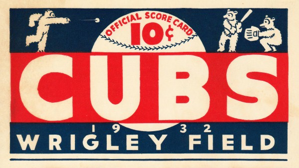 1932 Chicago Cubs Score Card  by Chad Dollick