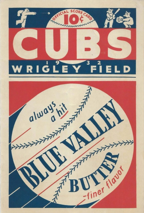 1932 Chicago Cubs Program Cover by Chad Dollick