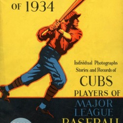 1934 Chicago Cubs Program Cover by Chad Dollick