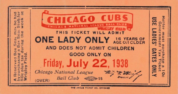 1938 Chicago Cubs World Series Ticket by Chad Dollick