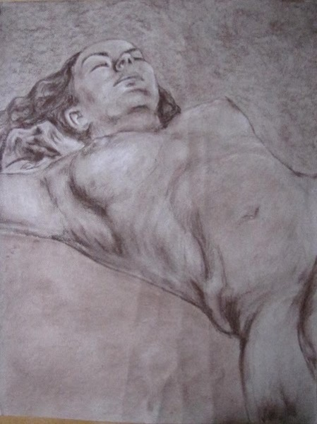 Female Body Drawing by Charity Golden