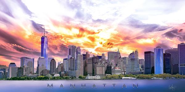 Manhattan Skyline by Chase Nevada Michaels