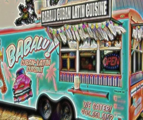 food truck one- okc Canvas Print