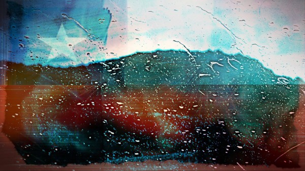 rainwindowflag Canvas Print