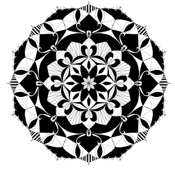 black&white mandala by Chino20