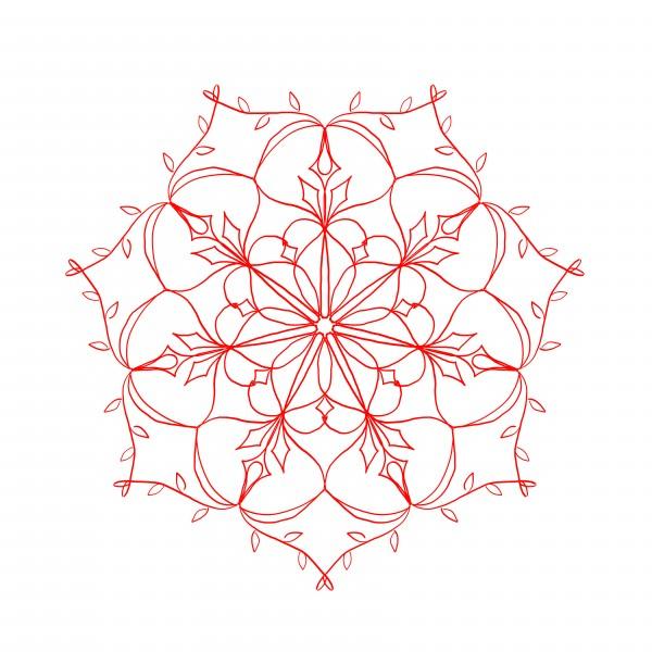 red&white mandala by Chino20