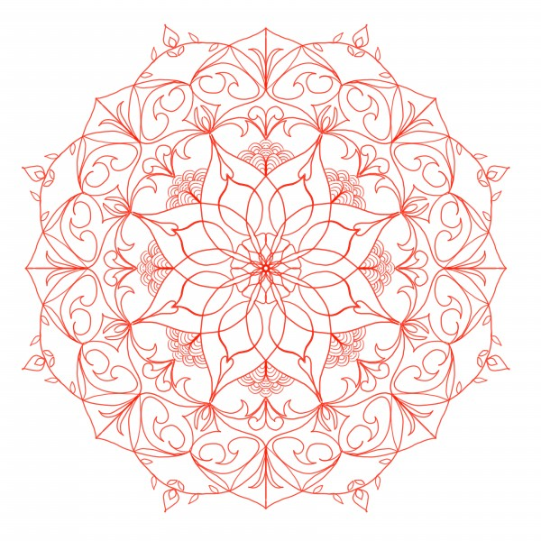 red mandala by Chino20