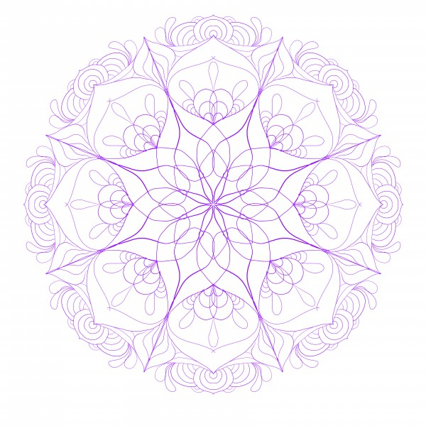 purple floral mandala by Chino20