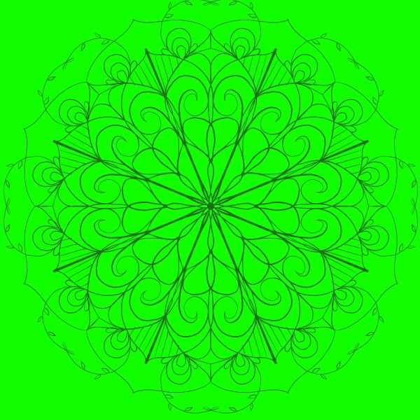 green floral mandala by Chino20