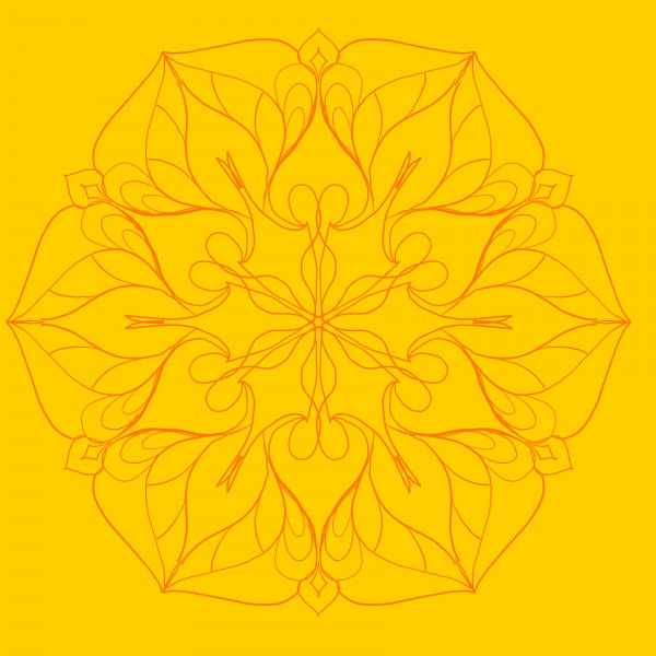 orange colored mandala by Chino20