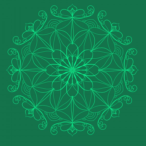 dark green mandala by Chino20
