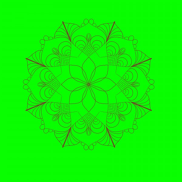 green&brown mandala by Chino20