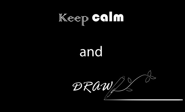 keep calm and draw by Chino20