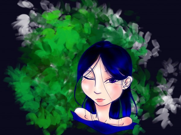Blue haired girl by Chino20
