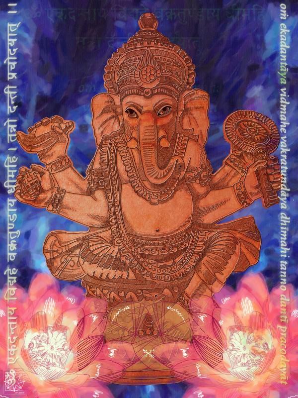 Lord Ganesha by ChrisHarrisArt