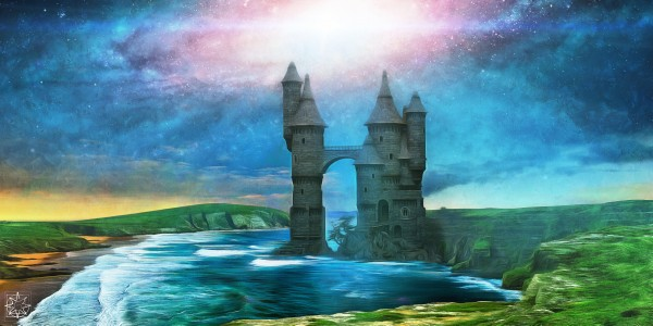 The Castle in the Sea by ChrisHarrisArt