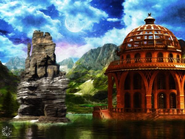 The Water House by ChrisHarrisArt