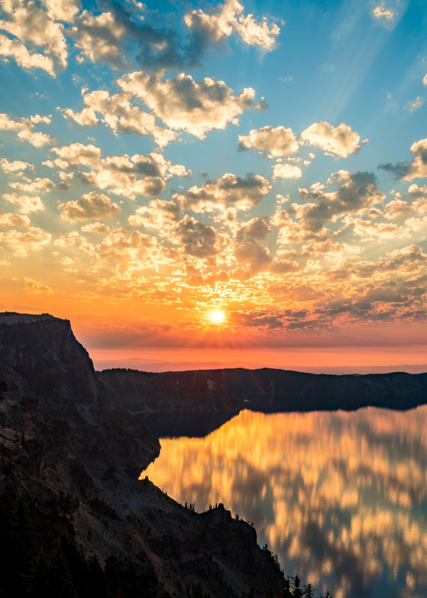 Crater Lake Sunrise by Clare Kathleen Cornelius