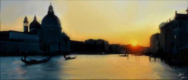 Venice painting 3 by Clint Hubler
