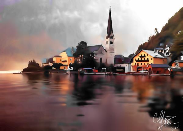 Swiss village by Clint Hubler