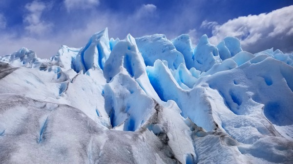 Glacier Blue Ice  Pinnacles by Creative Endeavors - Steven Oscherwitz