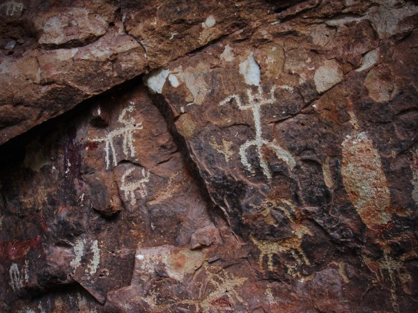 Ancient Petroglyphs on Cave Wall by Creative Endeavors - Steven Oscherwitz