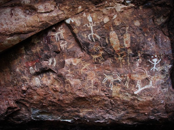 Magical Petroglyphs on Cave Wall in Northern Arizona by Creative Endeavors - Steven Oscherwitz