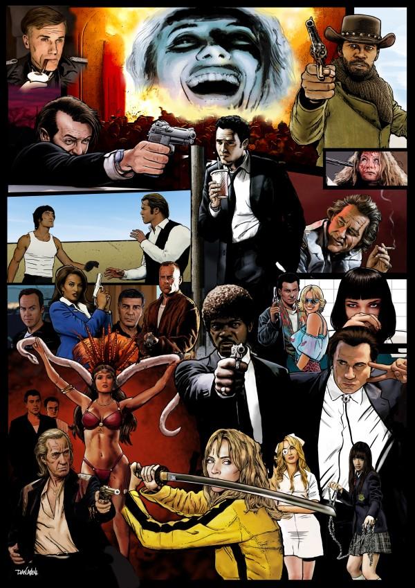 The Tarantinoverse - Pulp Fiction Reservoir Dogs Django Unchained Kill Bill & More by Dan  Avenell