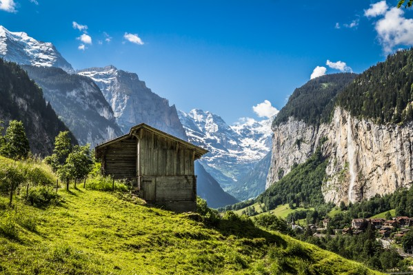 Hut in the valley by Danielle Farrell