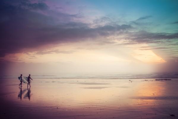 Sunrise Surfers by Danielle Farrell