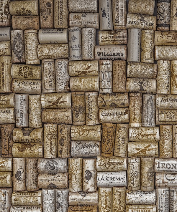 Champagne Corks on Wall by Darryl Brooks