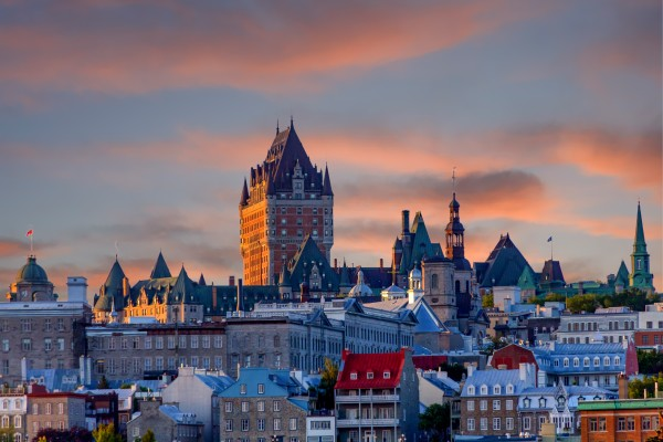 Dawn Over Quebec City by Darryl Brooks