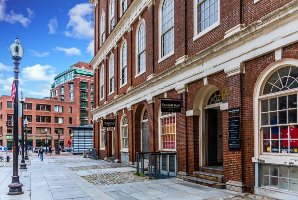 Faneuil Hall in Boston by Darryl Brooks