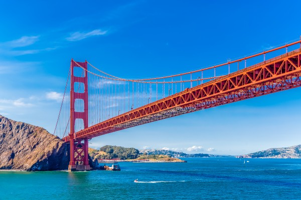 Golden Gate on Clear Day by Darryl Brooks