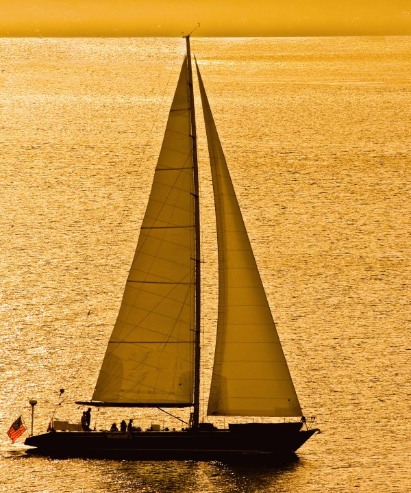 Sailing in Golden Light by Darryl Brooks