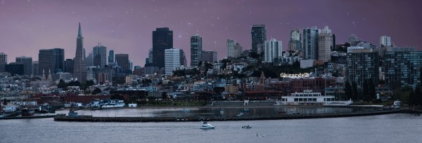 San Francisco by Night by Darryl Brooks