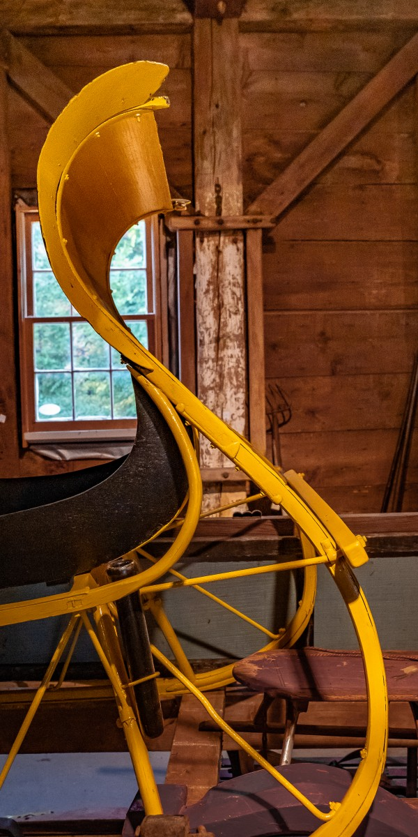 Yellow Sleigh by Dave Therrien