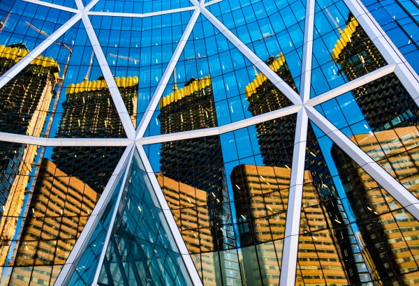 Calgary Bow Reflection by Dave Therrien