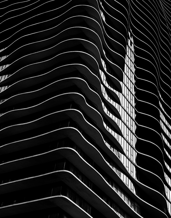 Aqua Tower Abstract by Dave Therrien