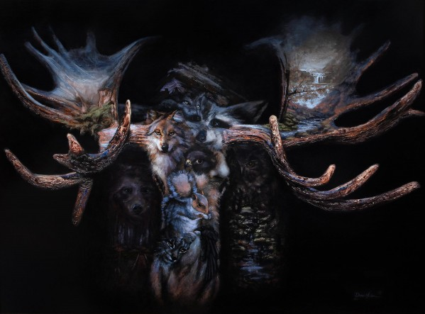 Moose Apparition  by Dean Miller