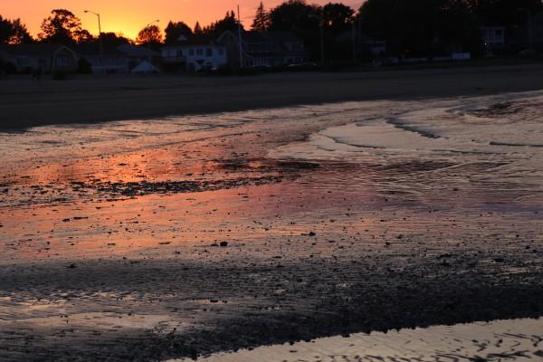 Boston Beach Sunset by Deb Striker