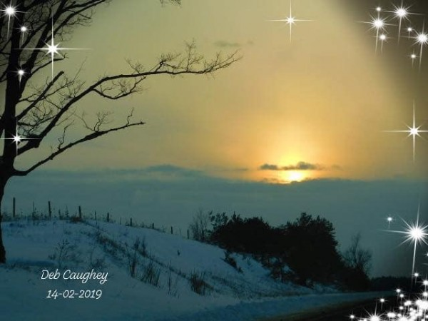 Cold Day Sunset by Debbie Caughey