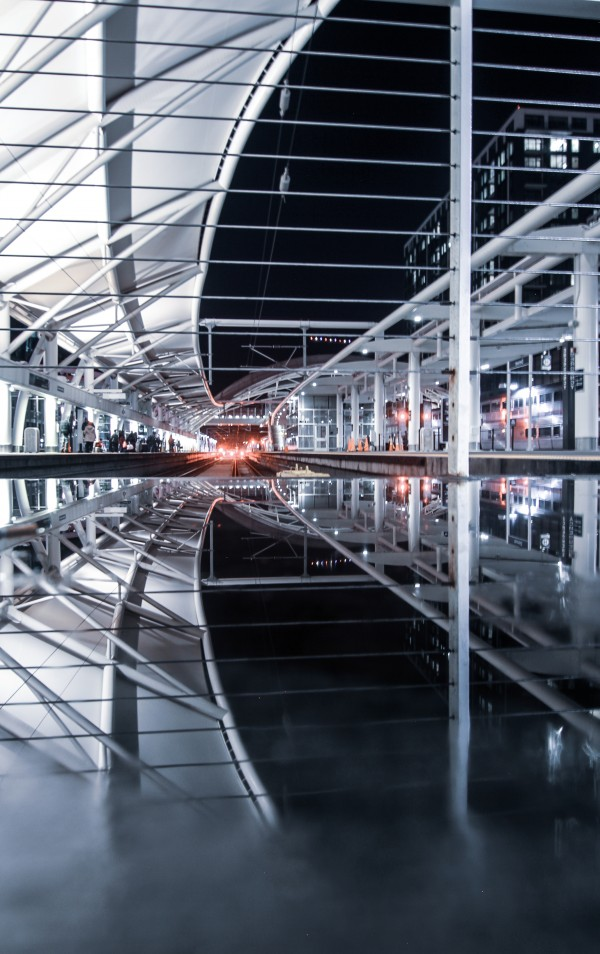 Union Station Reflection by Depth Of Fin
