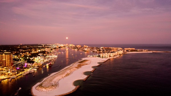 Full Moon Pass Harbor by Destin30A Drone