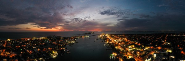 Night Harbor by Destin30A Drone