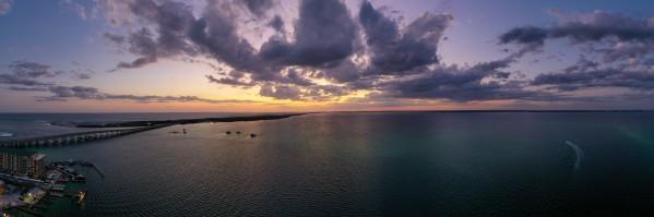 Crab Island Pano Night  by Destin30A Drone