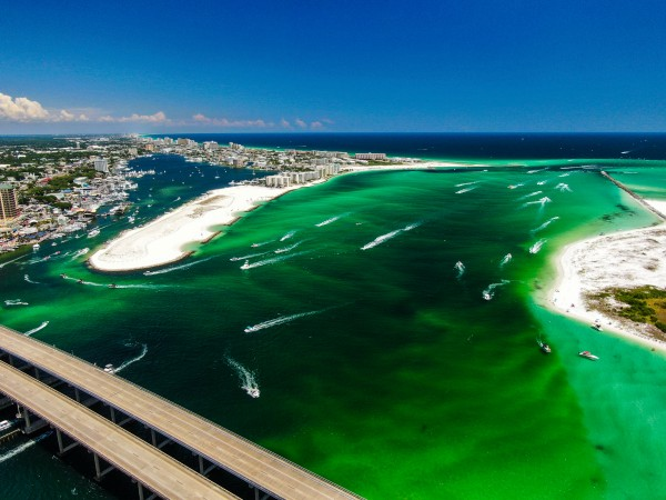 Busy Pass Empty Roads by Destin30A Drone