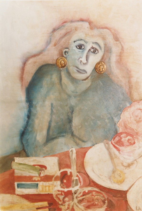 The woman with carnations  Print