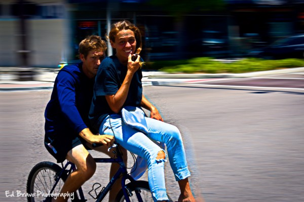 together on the bike by Eduardo Bravo